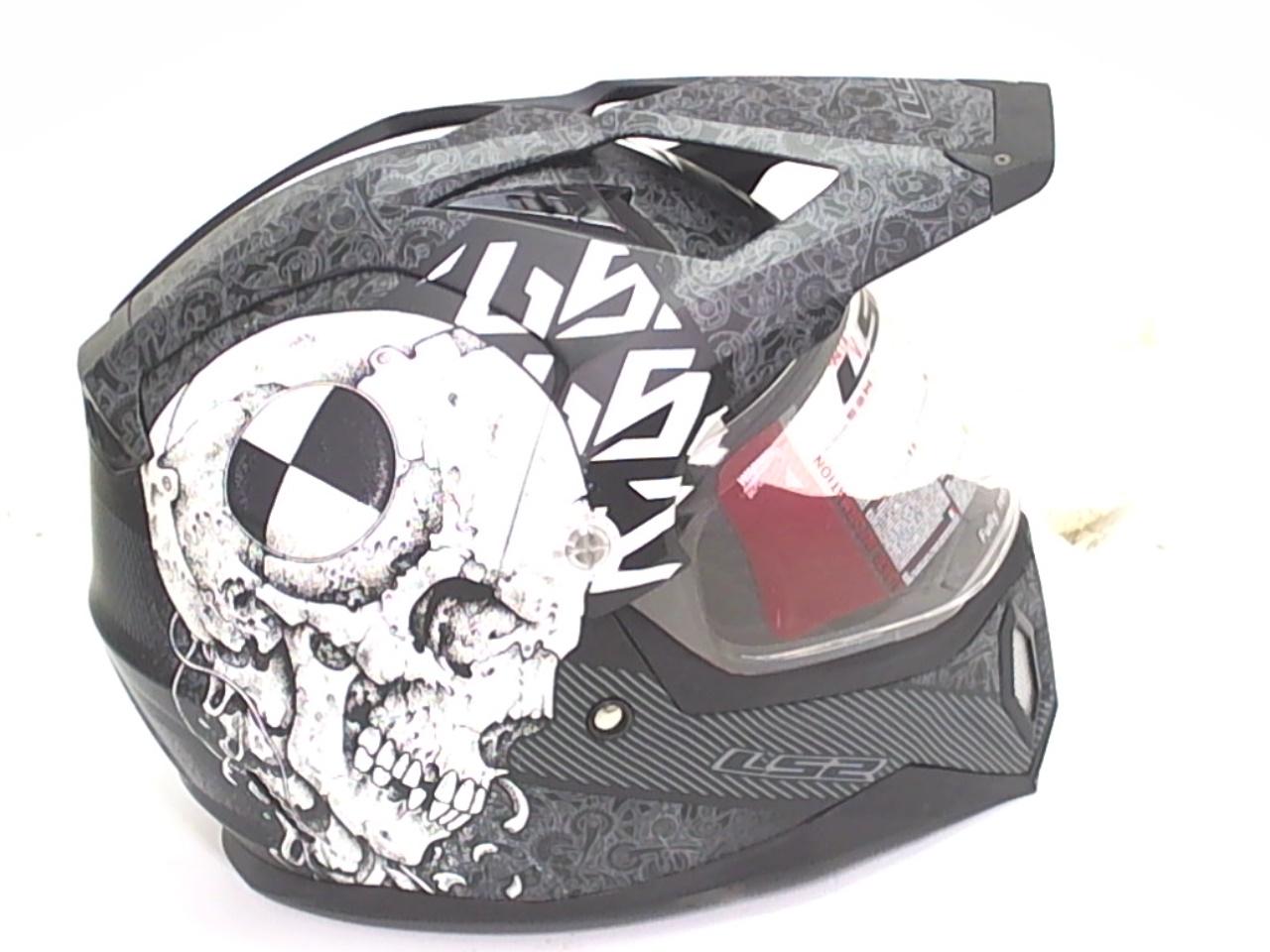 ls2 mx453 test machine mens motorcycle helmet black size s. Black Bedroom Furniture Sets. Home Design Ideas